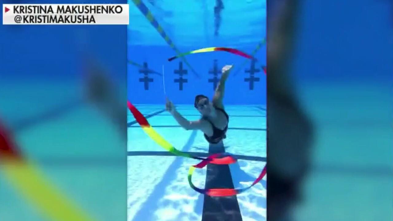 Woman doing underwater gymnastics goes viral