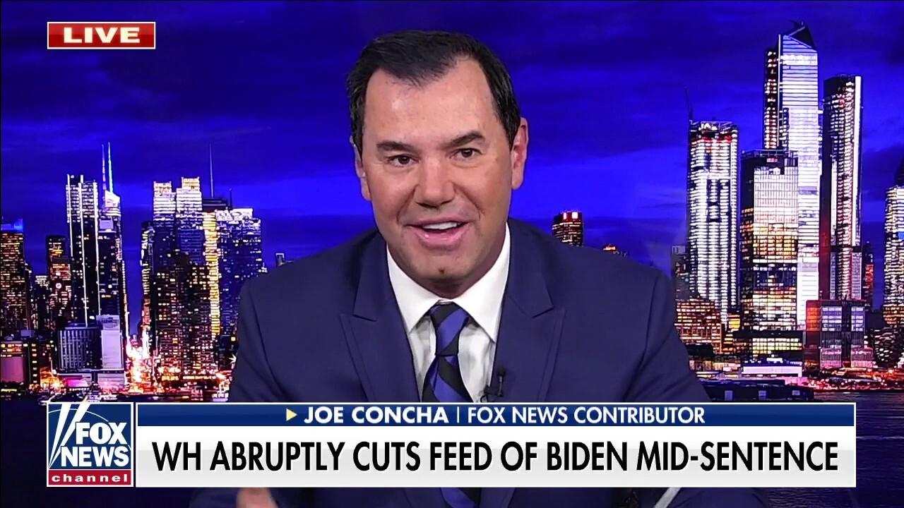 Joe Concha on White House cutting Biden's live feed: 'Appears intentional,' 'looks weak'