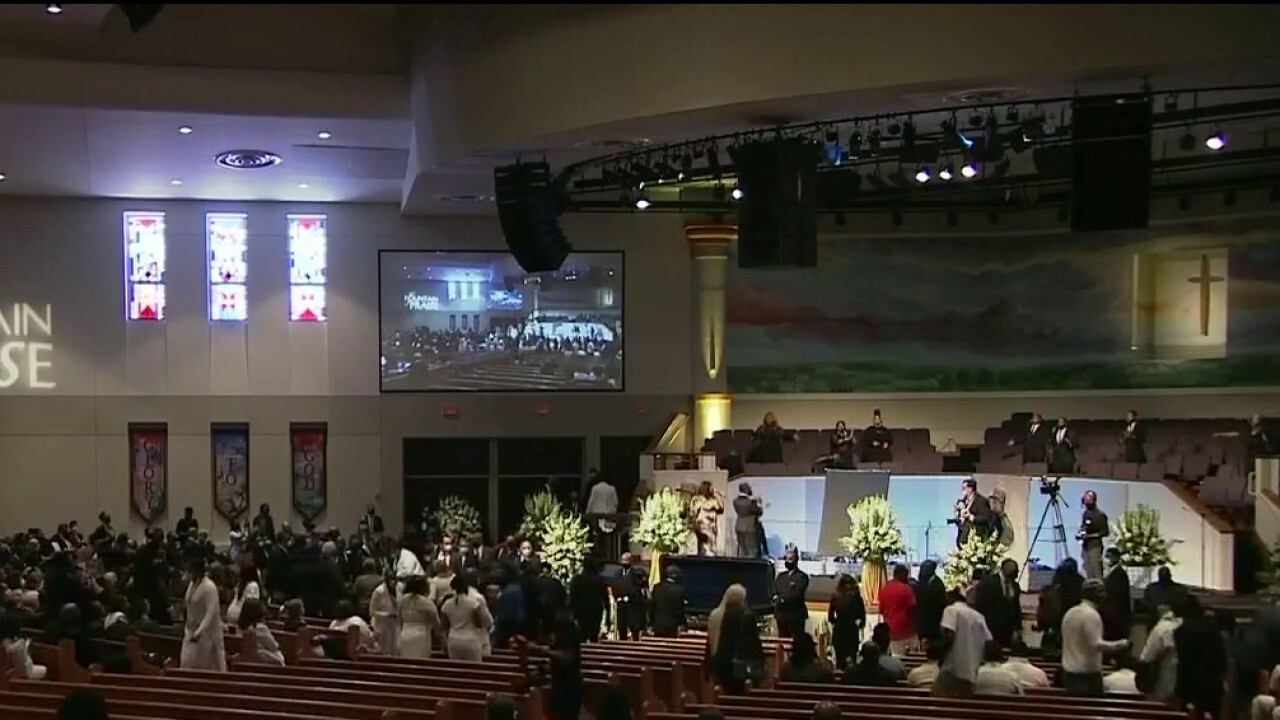 Mourners arrive at George Floyd's funeral in Houston