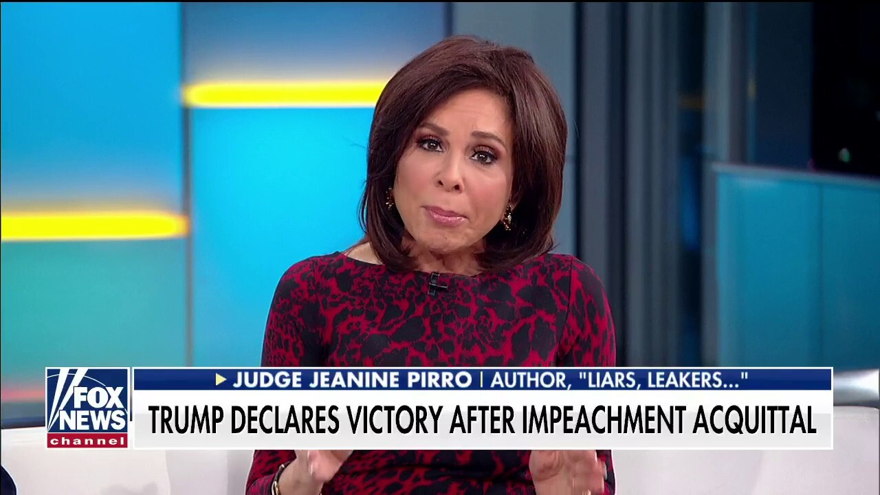 Judge Pirro to Pelosi: I don't believe you. You hate Donald Trump.