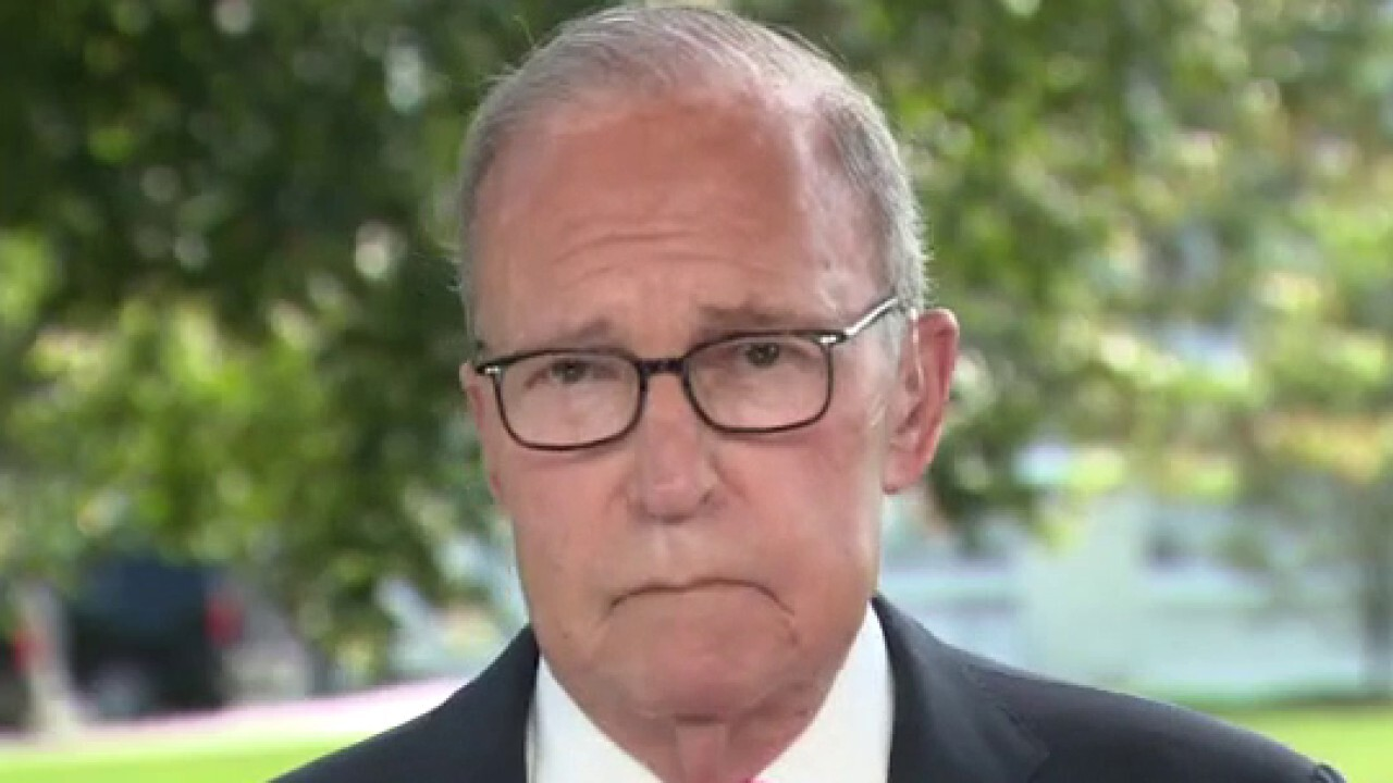 White House economic adviser Larry Kudlow reacts to positive jobs numbers in wake of coronavirus pandemic.