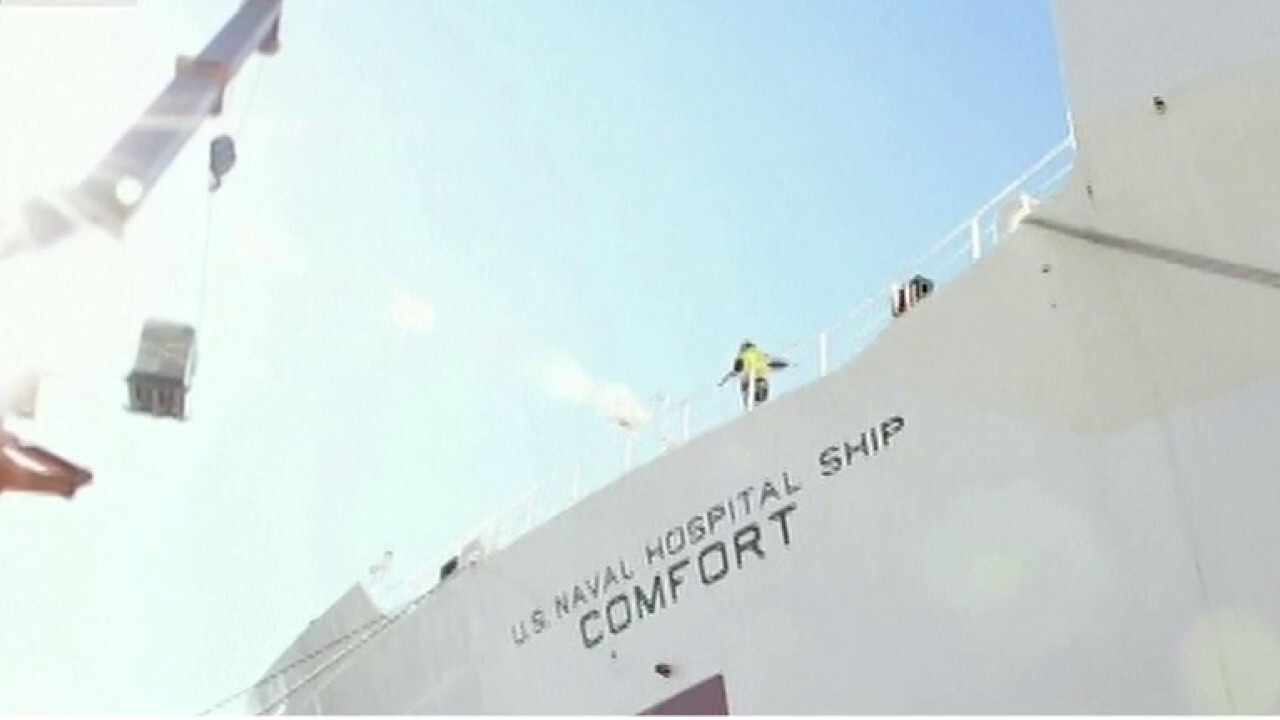NYC pier prepares for USNS Comfort's arrival in coronavirus fight