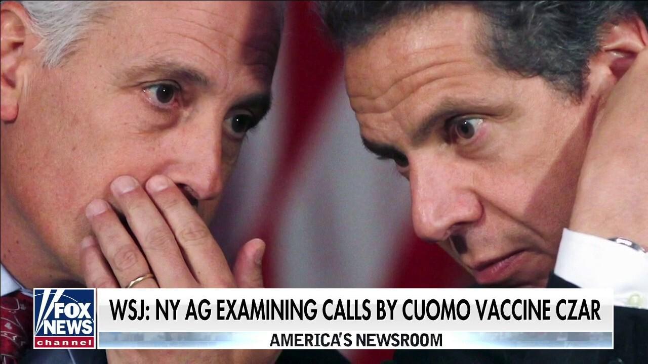 WSJ: New York AG examining calls to officials by Cuomo vaccine czar
