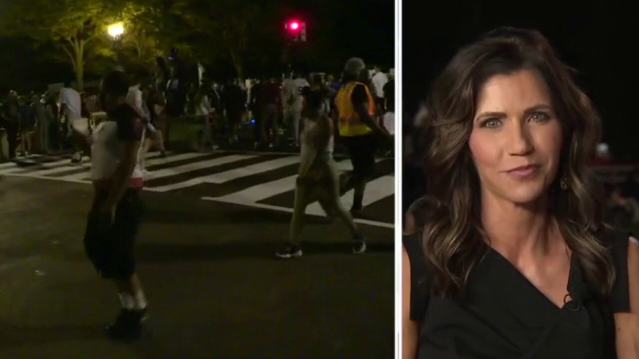 Gov. Kristi Noem contrasts President Trump's RNC speech with protests outside the White House