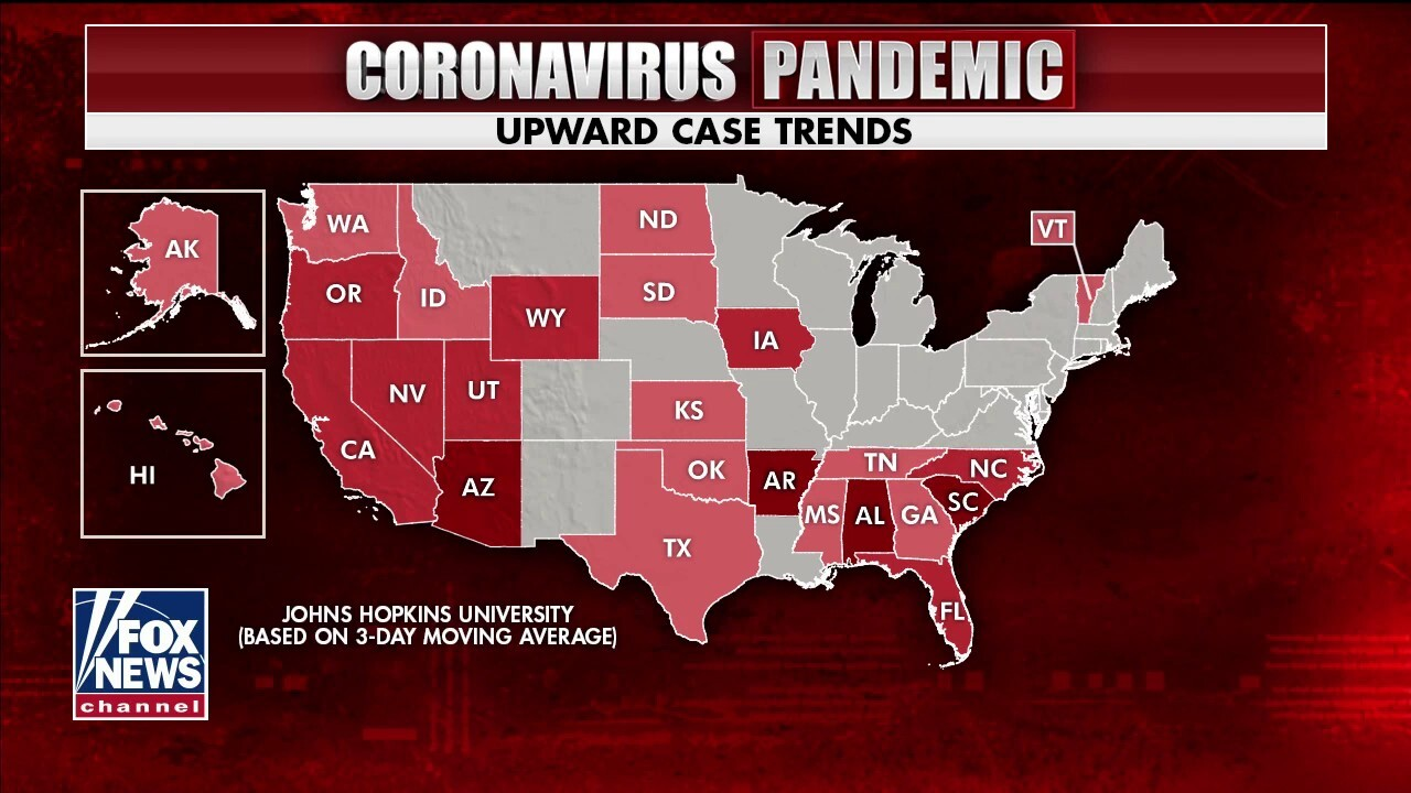 Increase in COVID-19 cases, hospitalizations in states explained