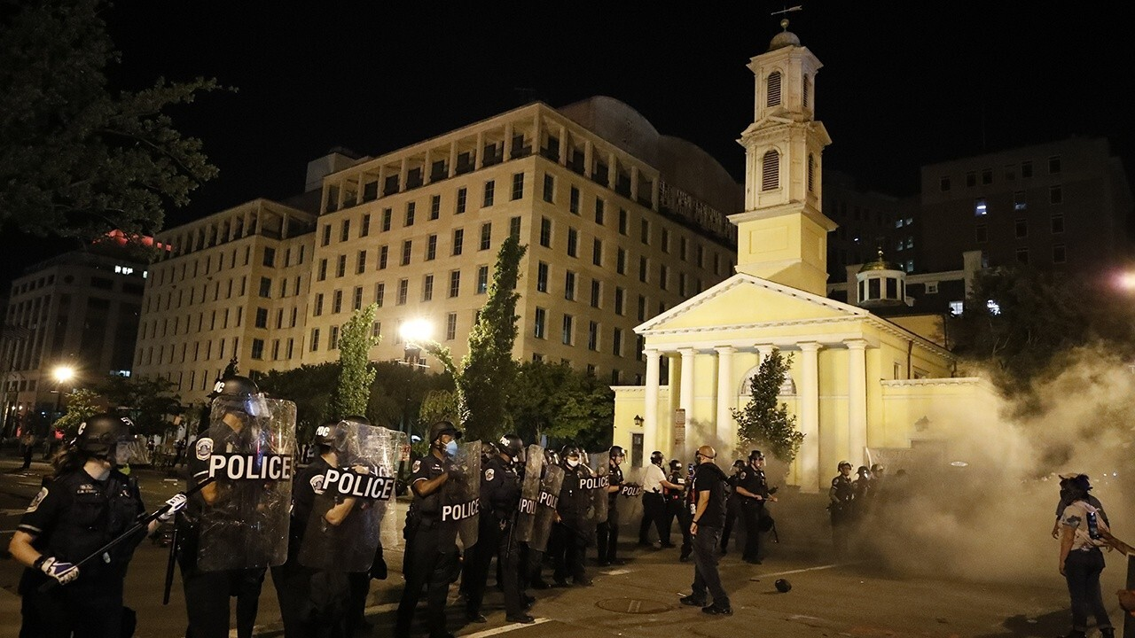 Cleanup begins after fire damages historic DC church during riots