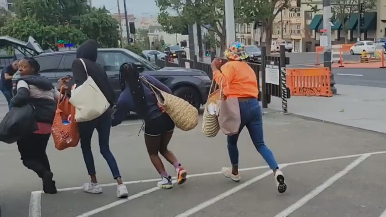 San Francisco shoplifting: Women caught on video allegedly bolting from CVS with bags full of stolen goods