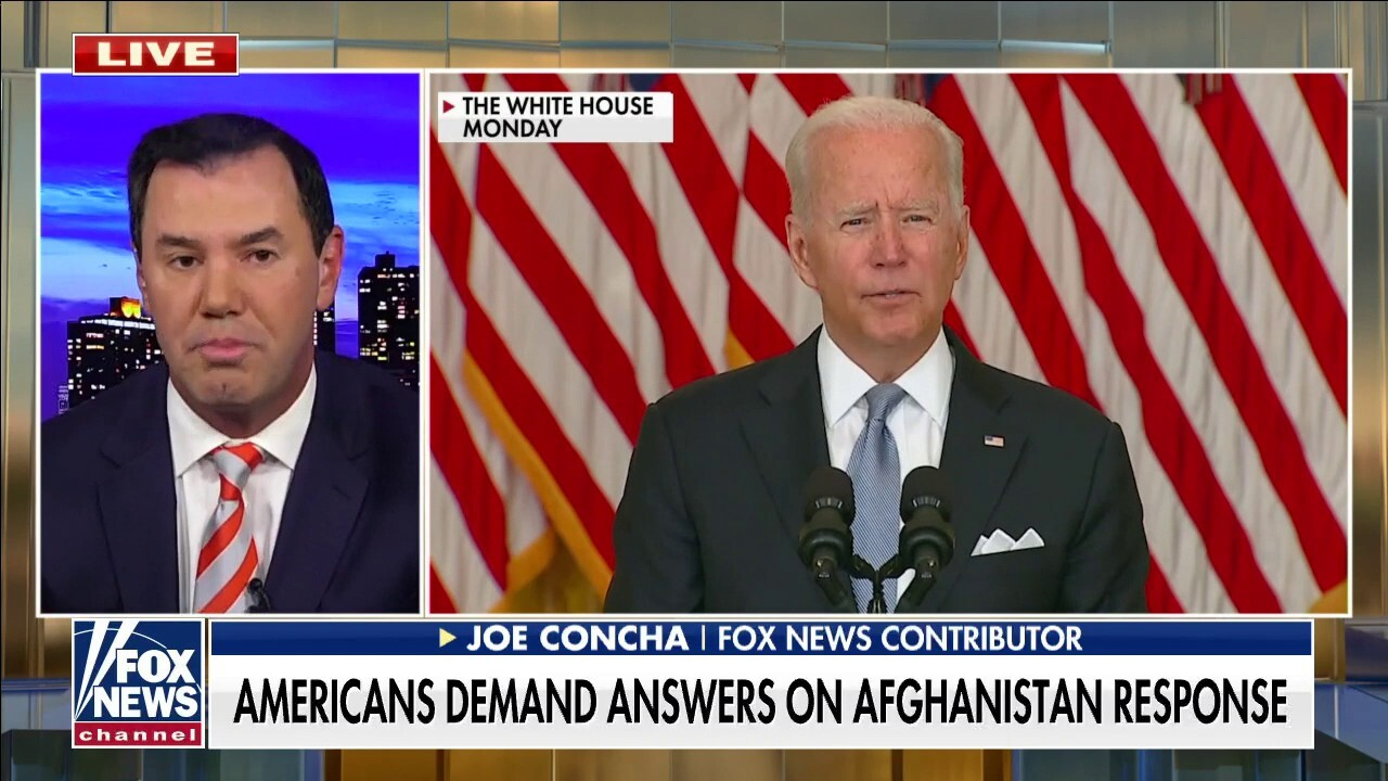 The lights are on and nobody is home: Concha rips Biden for vacationing during Afghanistan disaster
