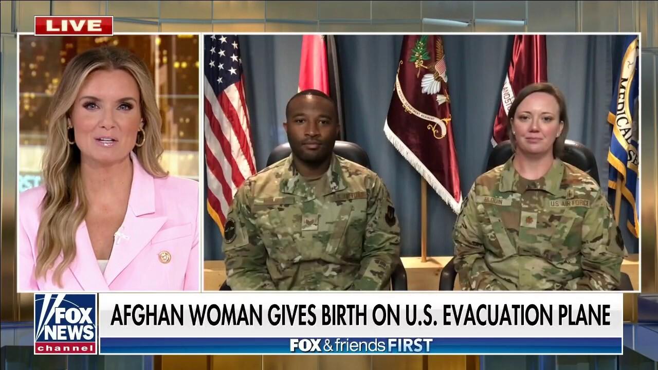 Afghan woman gives birth mid-flight on US evacuation plane