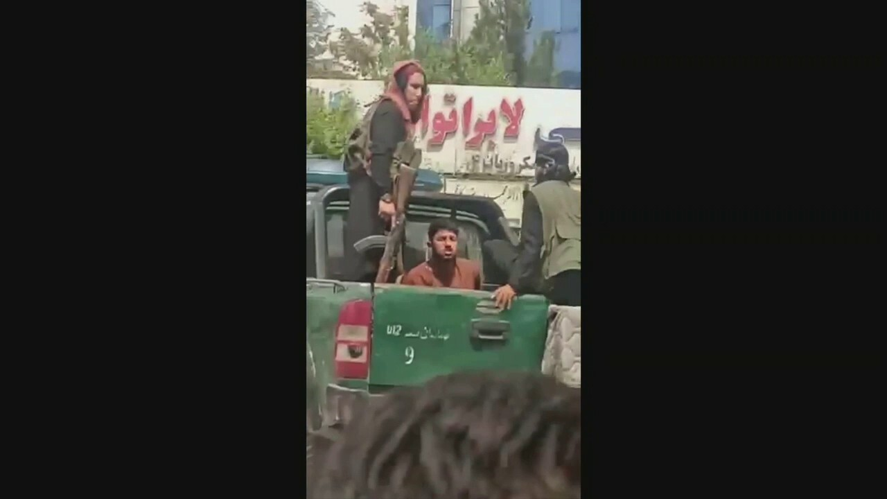 Scenes from Afghanistan: Taliban fighters seen beating man, crowds gather at airport