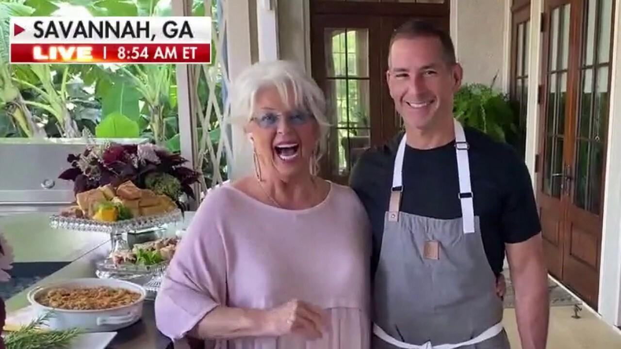 Paula Deen cooks up steak & veggies for Labor Day Weekend