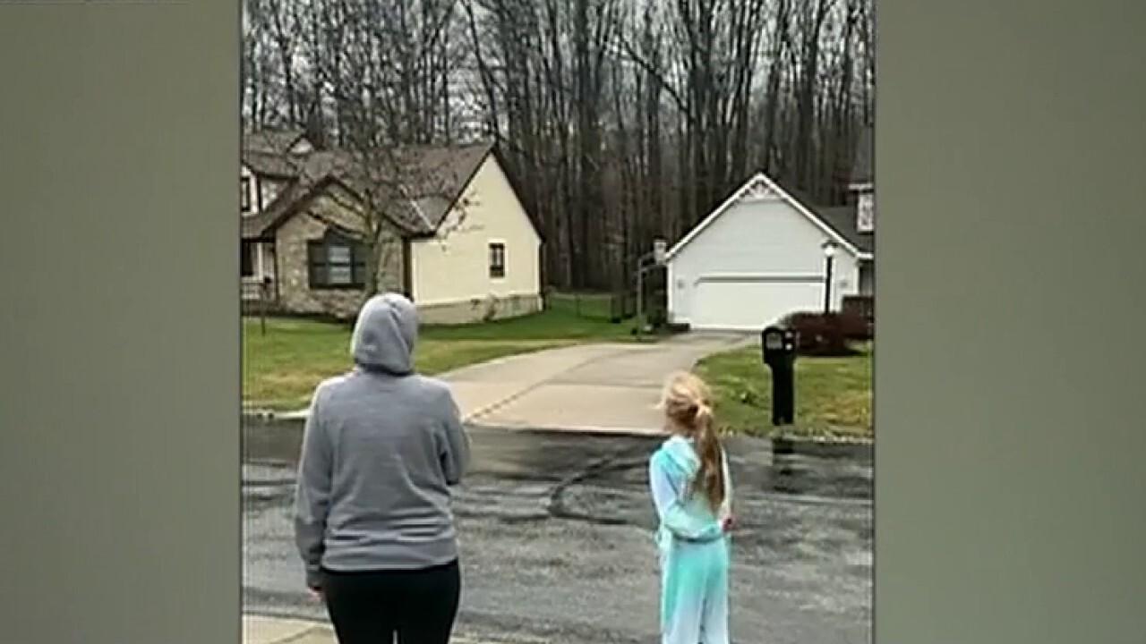 Ohio students recite pledge while schools are closed amid the coronavirus outbreak