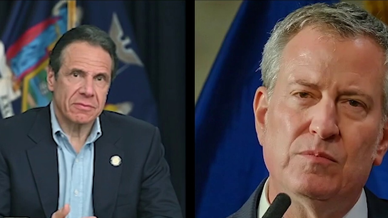 Massive 'F--k Cuomo and de Blasio' mural painted on Brooklyn street - fox