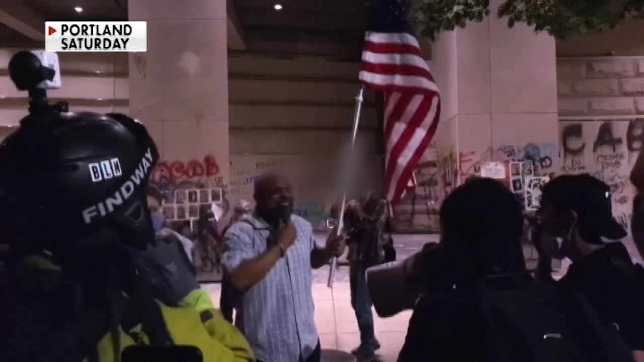 Retired Marine who carried American flag through Portland protests says 'terrorists' have taken over his city