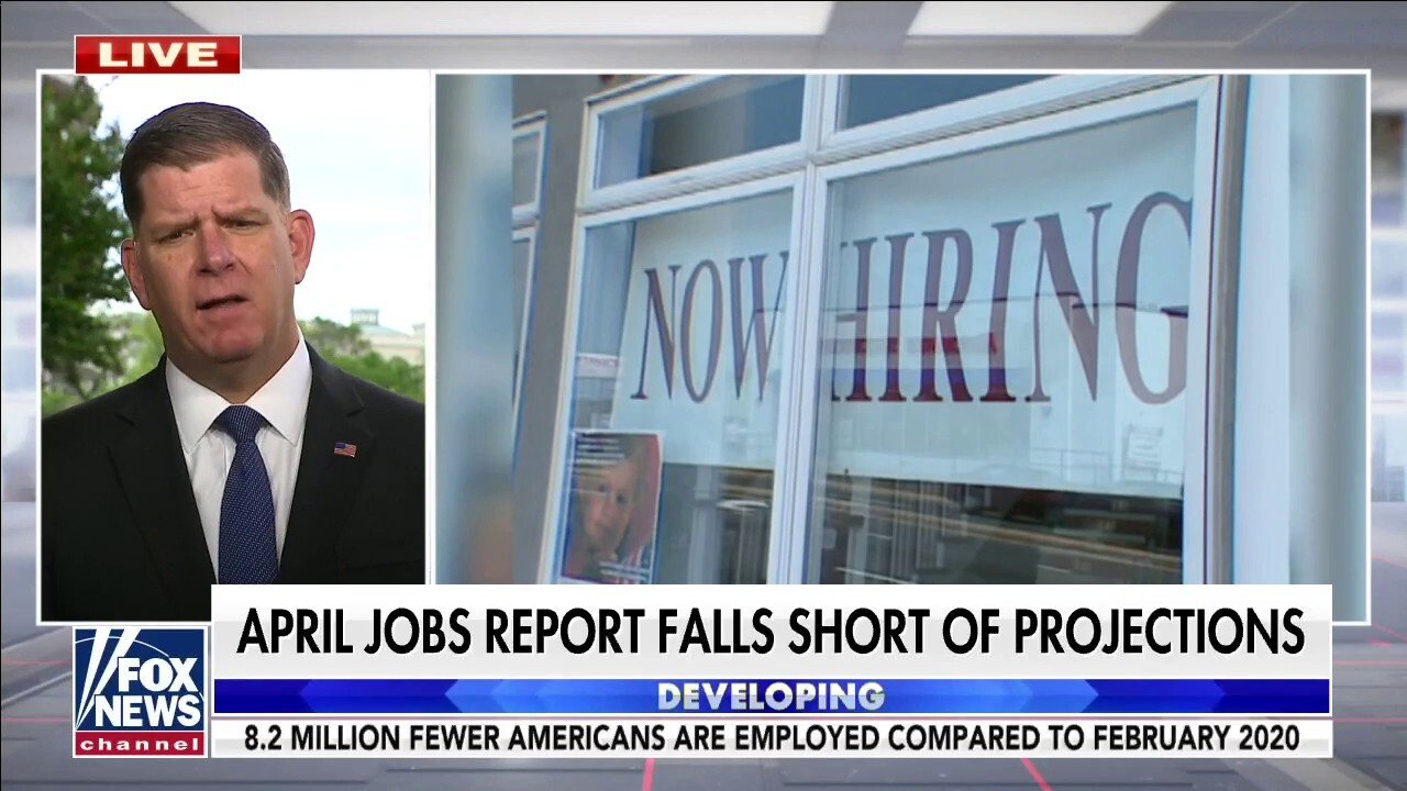 Biden labor secretary responds to claims of worker shortages due to unemployment benefits