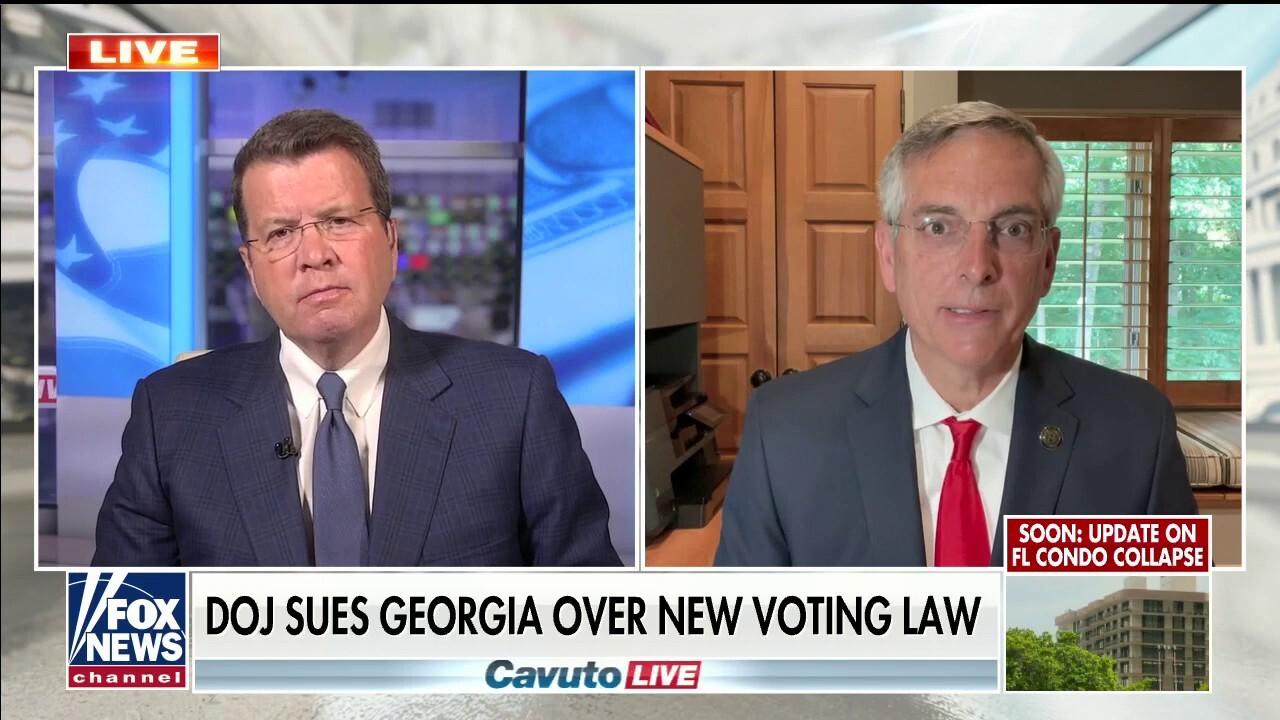 Georgia secretary of state addresses DOJ lawsuit challenging voting law