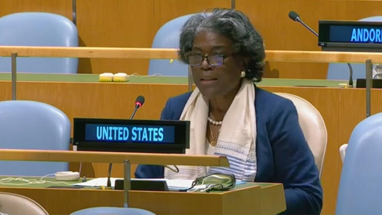 US Ambassador Linda Thomas-Greenfield gives remarks at UN General Assembly Informal Briefing on Burma