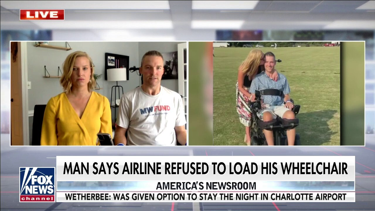 Quadriplegic says American Airlines refused to load wheelchair in violation of federal law