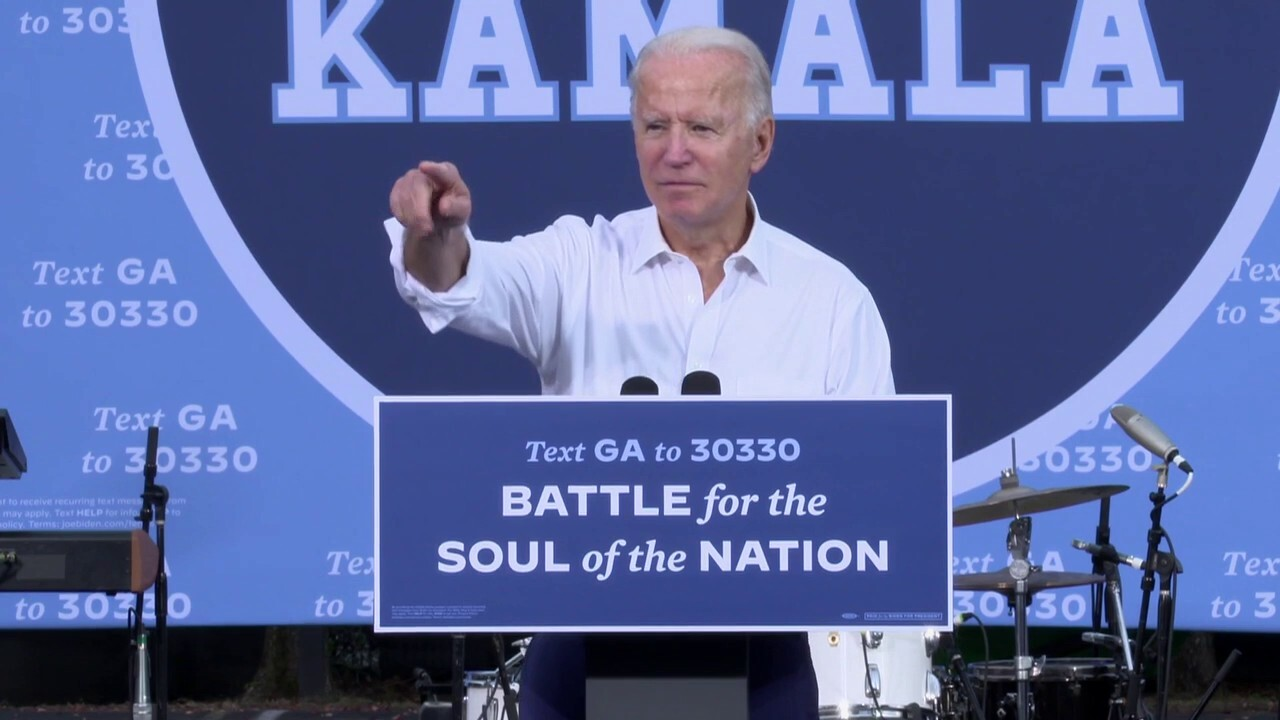 Biden campaigns in Georgia with one week to go before Election Day