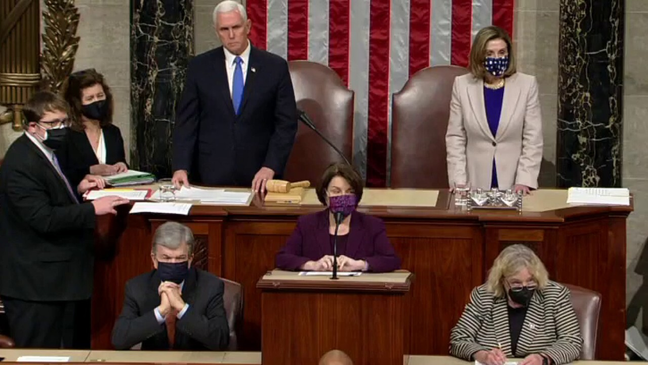 Congress back in session to certify Electoral College after riot