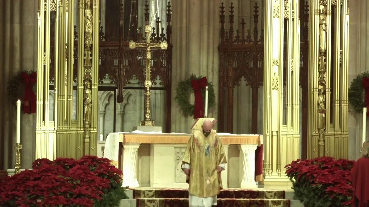 Christmas morning Mass from St. Patrick's Cathedral