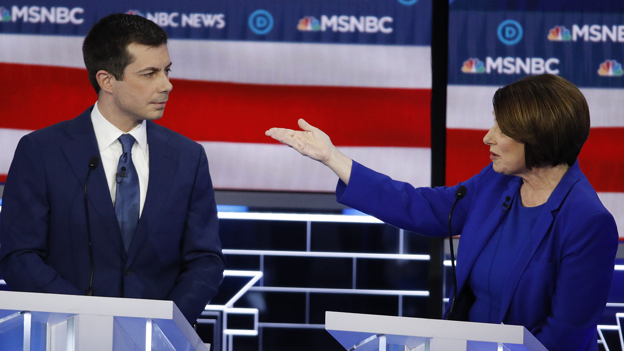 Democratic presidential candidates attack each other, ignore Trump at raucous Nevada debate