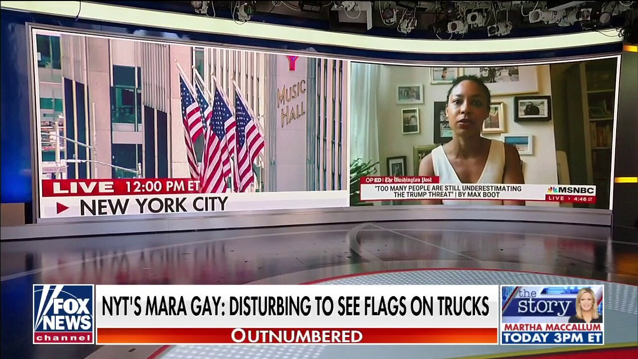 'Outnumbered' blasts NYT board member's objection to American flags