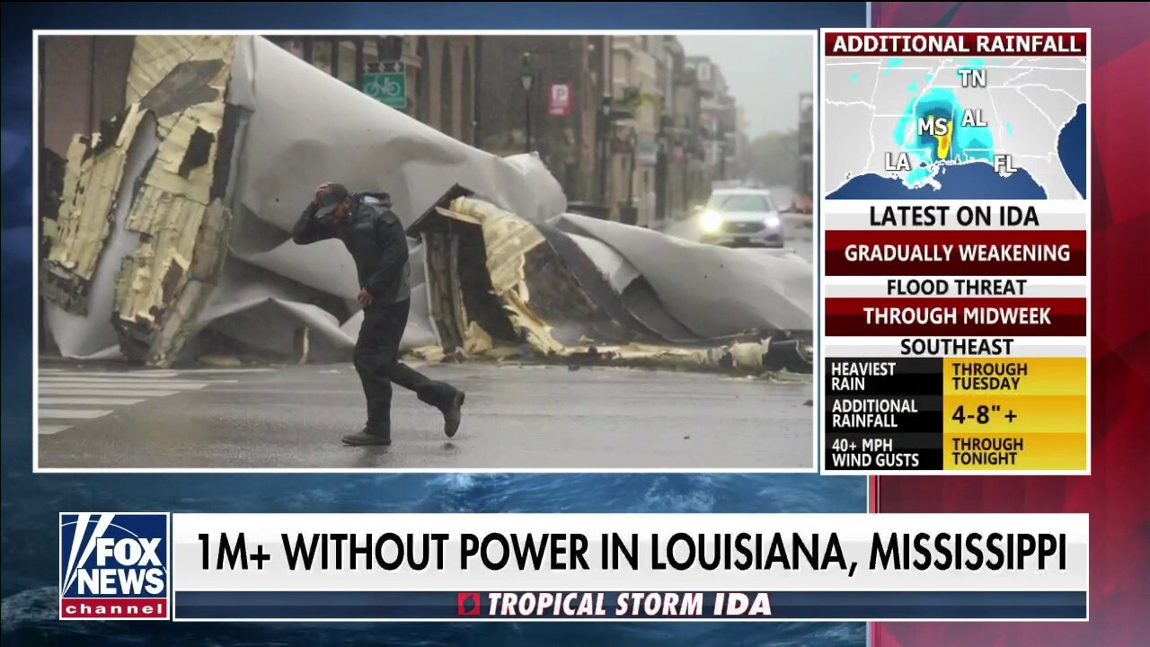 Ida brings life-threatening storm surge, causes power outage for over 1 million people in Louisiana and Mississippi