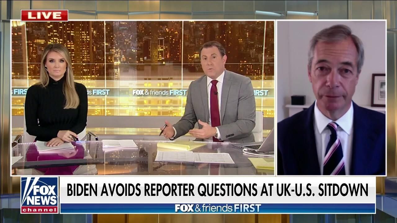 Nigel Farage on Biden dodging press questions, president's UN speech