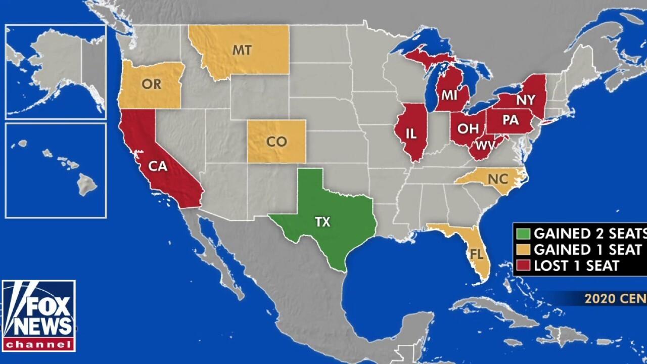 Northeast states, California, to lose congressional seats to Florida, Texas, Montana