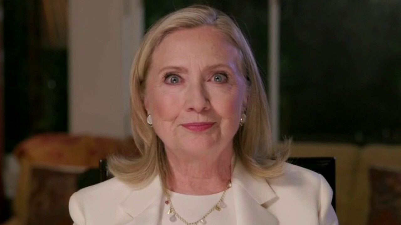 Former Democratic presidential nominee Hillary Clinton speaks at the third night of the 2020 Democratic National Convention.