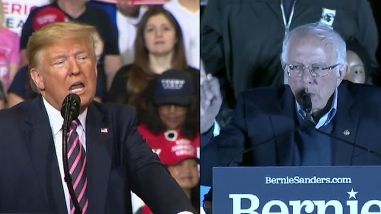 Nevada voters show support for Donald Trump and Bernie Sanders