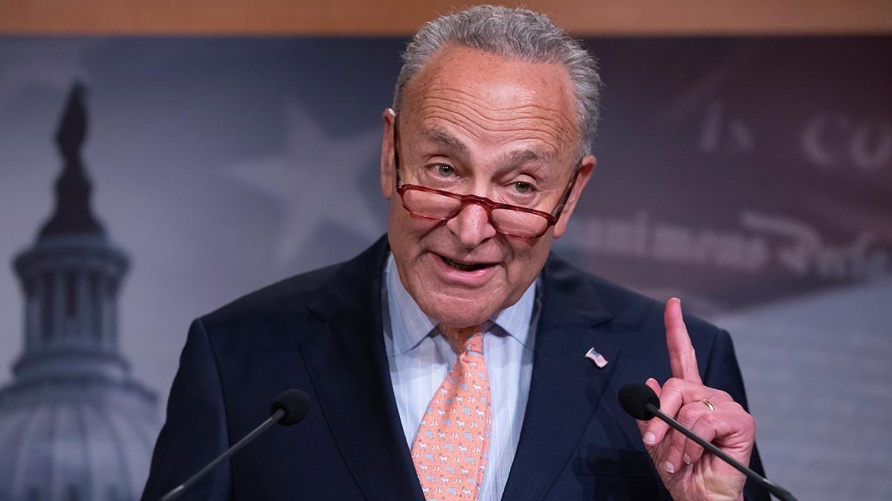 Schumer pushes Senate forward on unwritten infrastructure bill