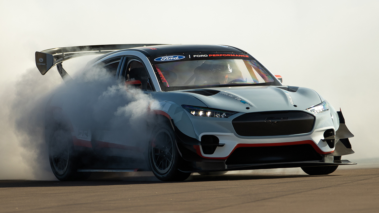 Seven-motor Ford Mustang Mach-E is an electric thrill ride