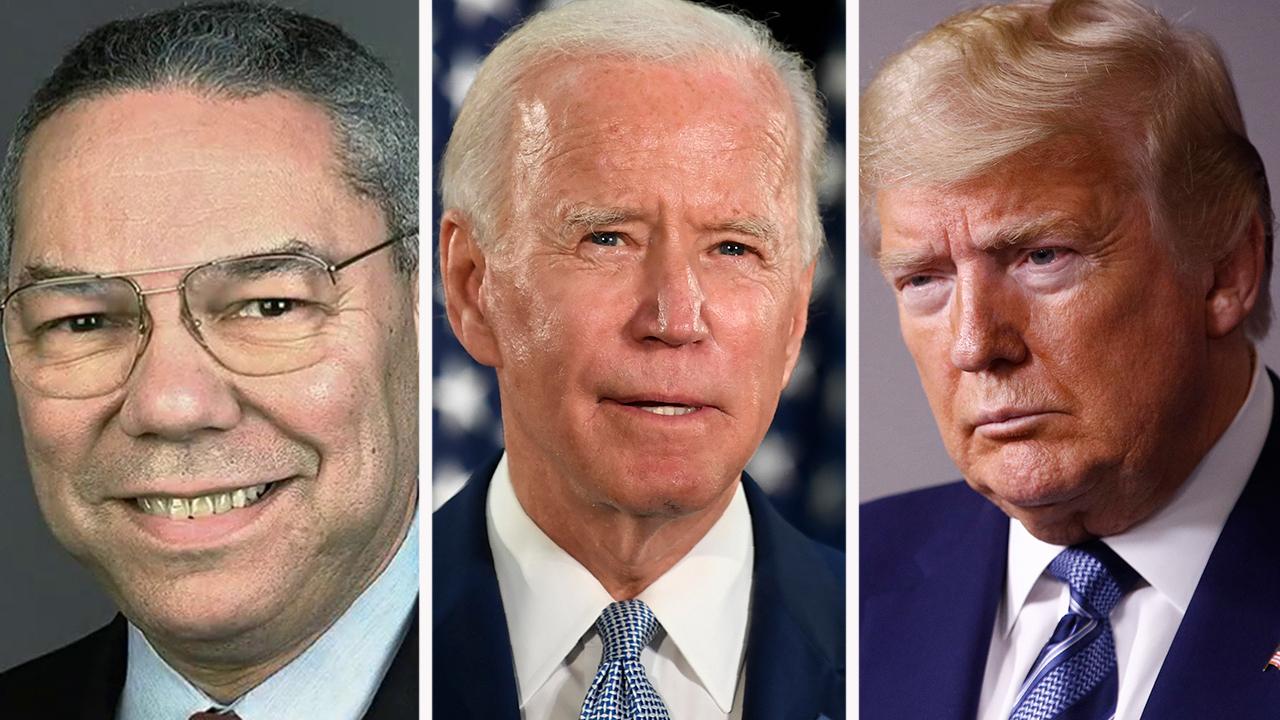 Powell endorses Joe Biden, bashes President Trump