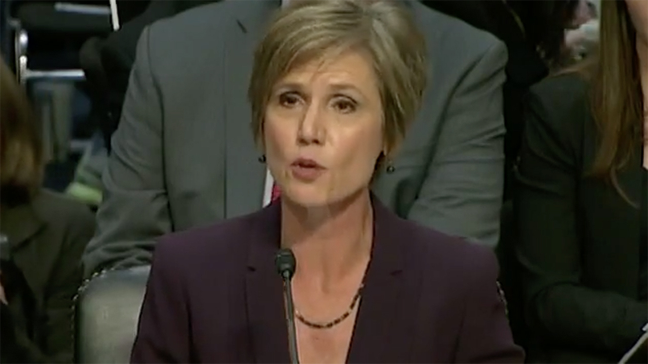 Former Deputy Attorney General Sally Yates testifies at Senate Judiciary Committee hearing