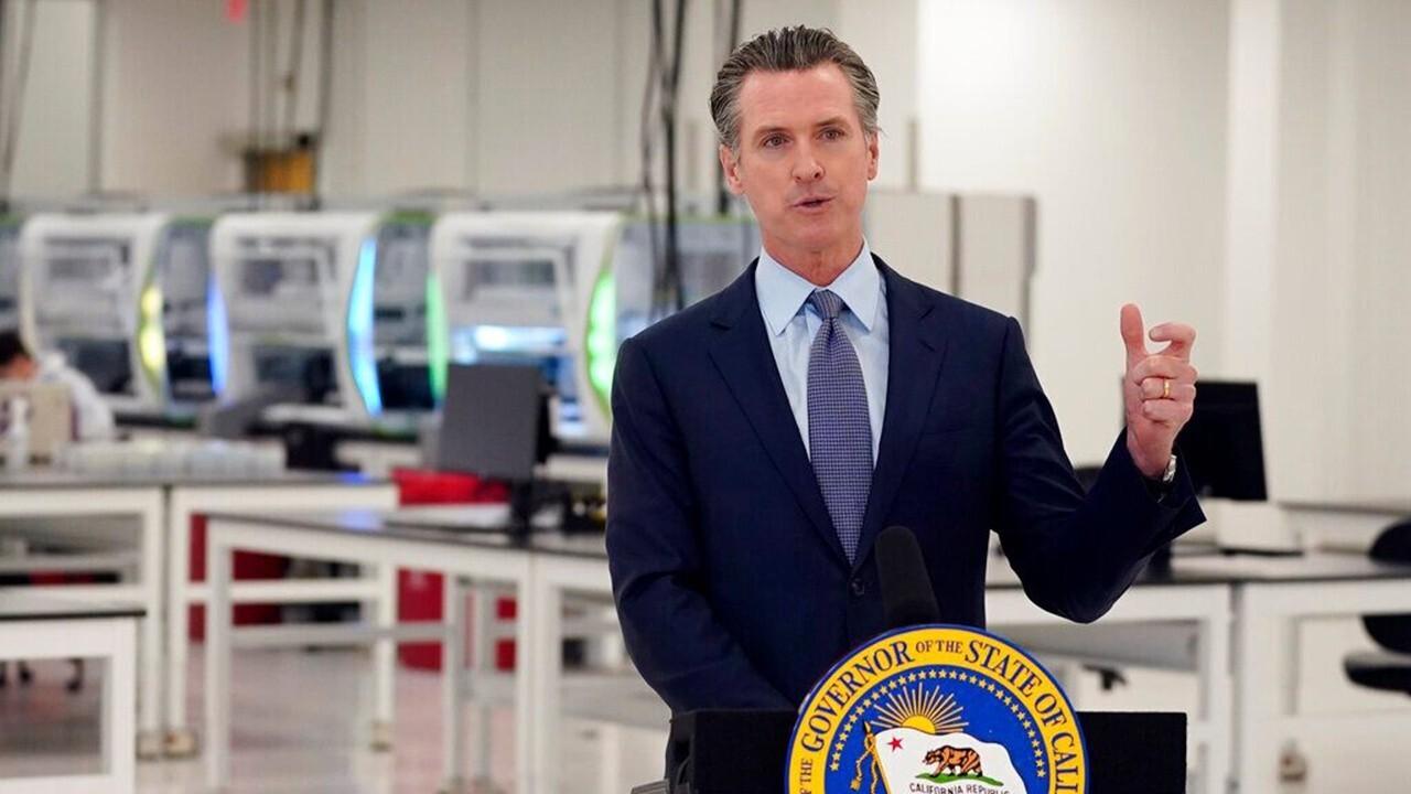 California Gov. Gavin Newsom fights for his political life