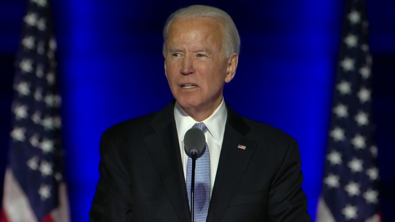 President-elect Joe Biden, incoming Vice President Kamala Harris gives victory speech.