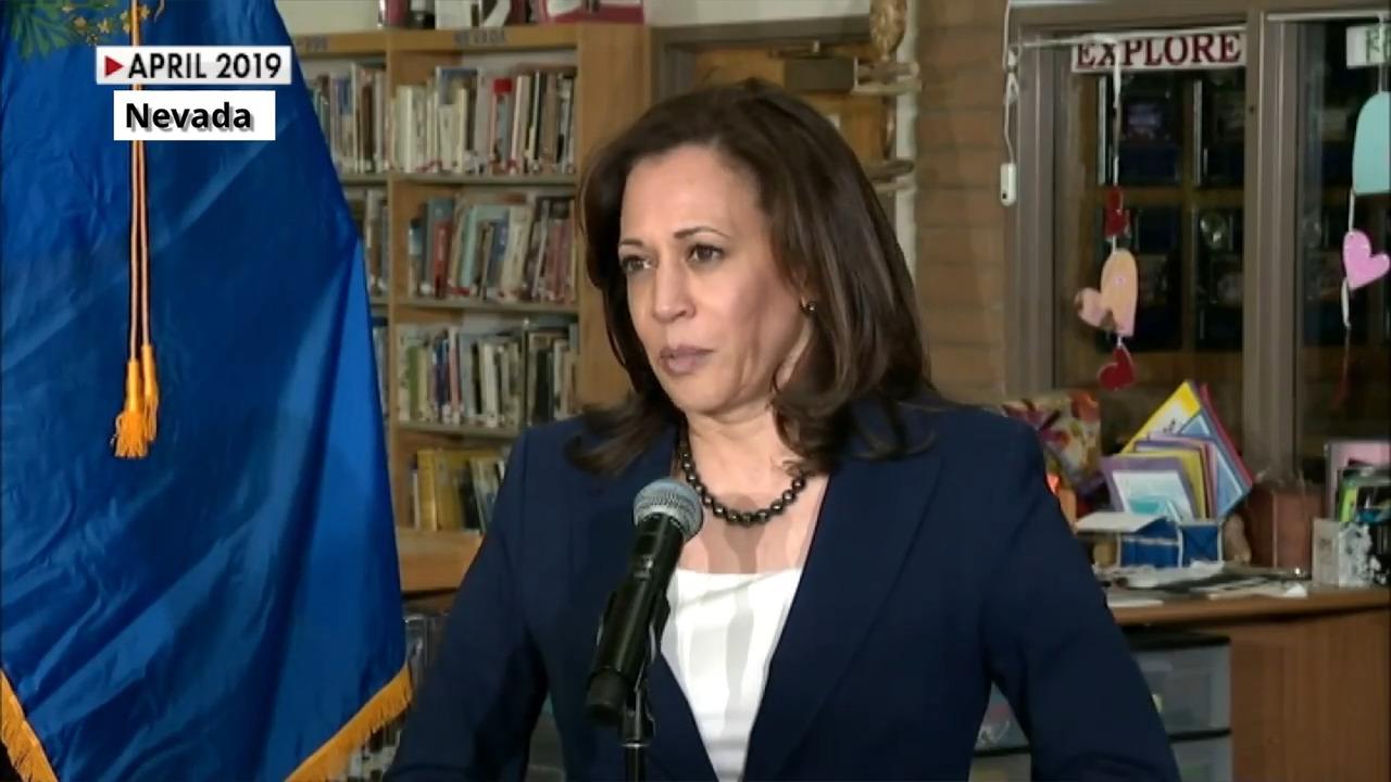 Sen. Kamala Harris says 'I believe them' about Biden accusers
