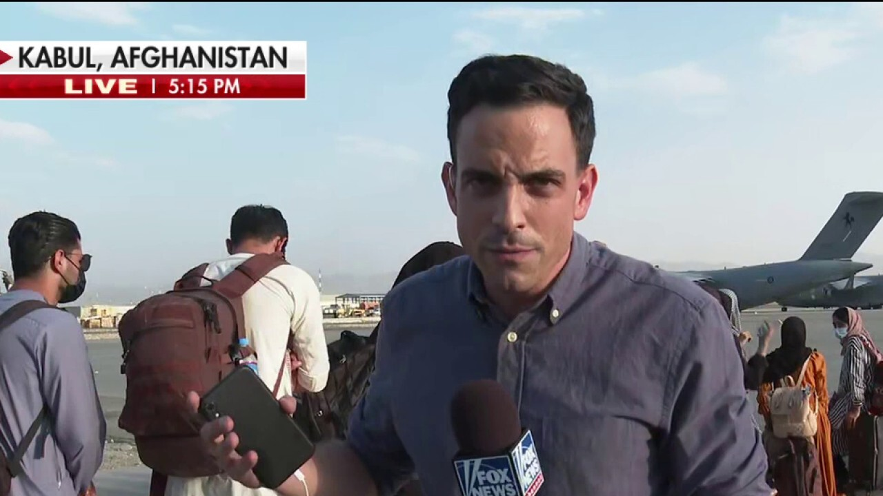 Fox News live from Kabul airport as evacuations are underway