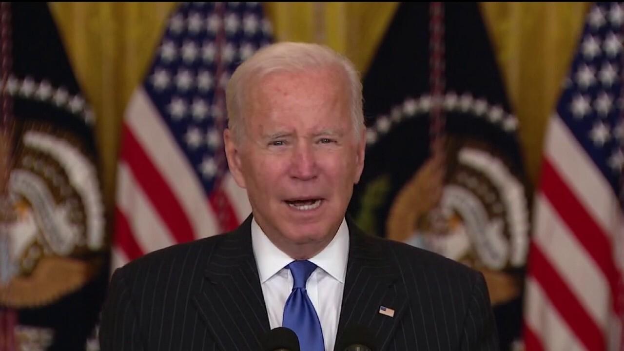 Biden touts plan to address supply chain bottleneck