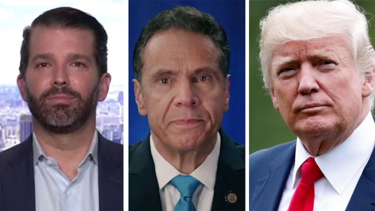 Donald Trump Jr. says Cuomo's 'tough guy shtick' will make him a media darling despite botched COVID response