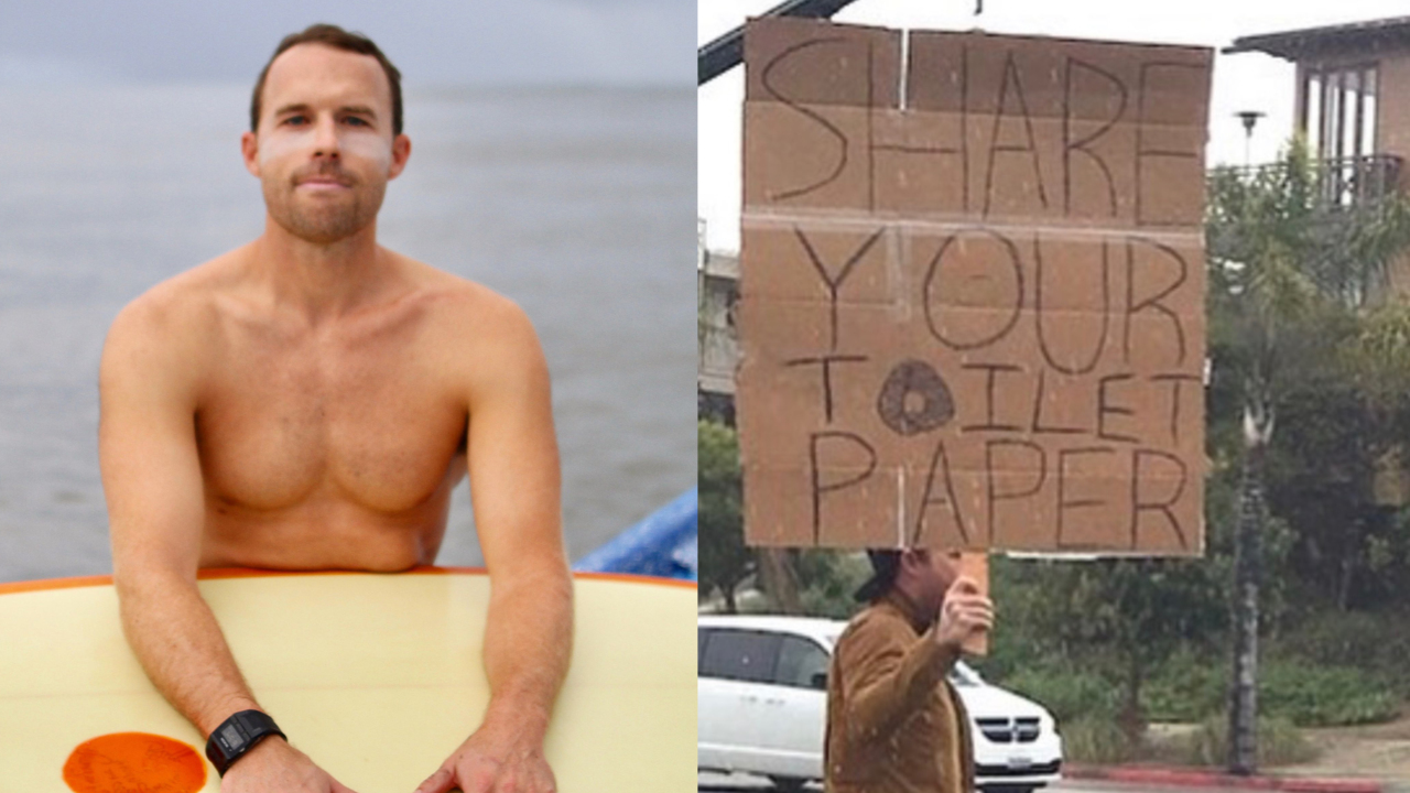 Coronavirus act of kindness: Surfer starts toilet paper swap