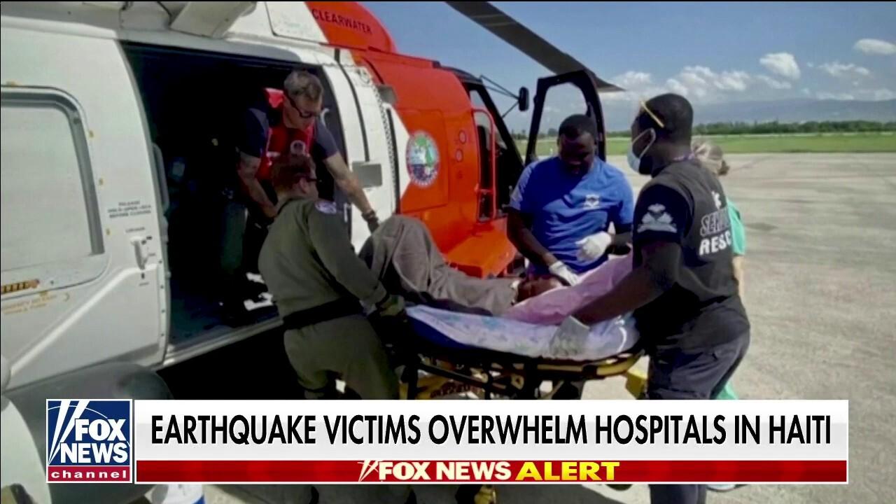 Earthquake victims overwhelm hospitals in Haiti as death toll climbs