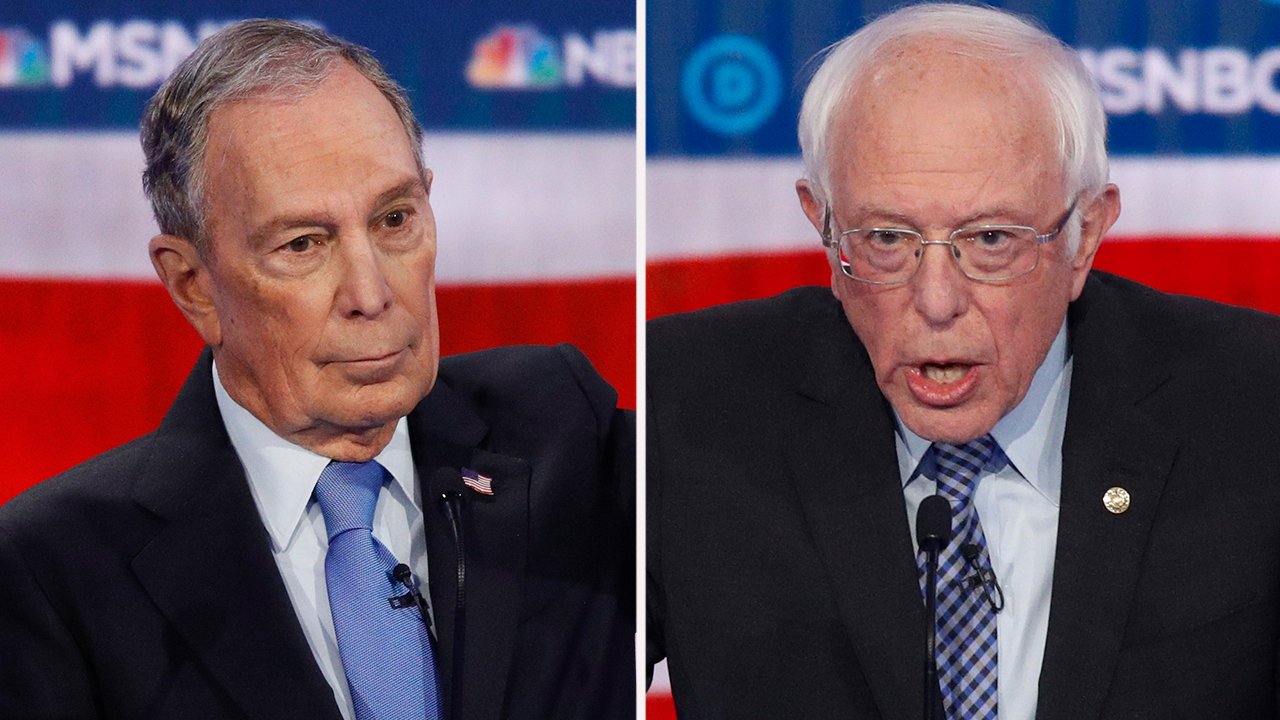 Bernie Sanders slams Bloomberg, says Trump would 'chew him up and spit him out' thumbnail