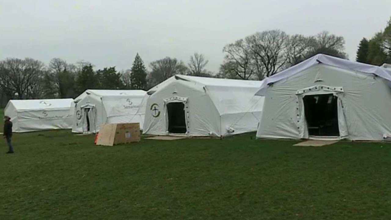 Samaritan's Purse sets up field hospital in Central Park as coronavirus cases rise in NYC