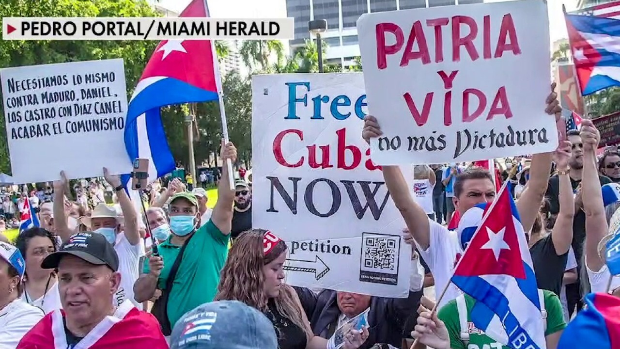 Florida rally calls to free Cuba after Biden announces new sanctions