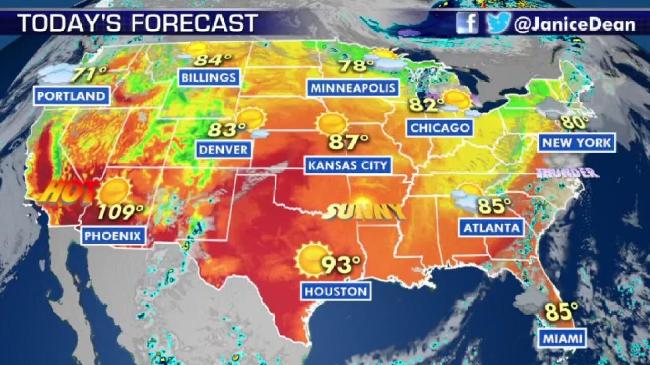 National forecast for Thursday, June 11
