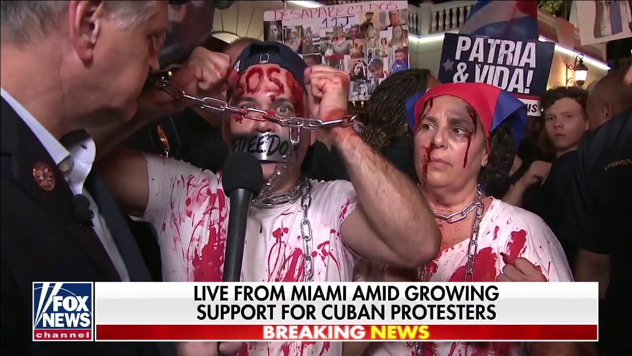 Pro-democracy demonstrators in Miami slam Biden for ignoring Cuban oppression
