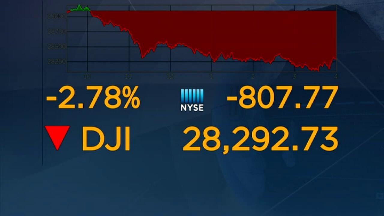 Stocks take big tumble on Wall Street